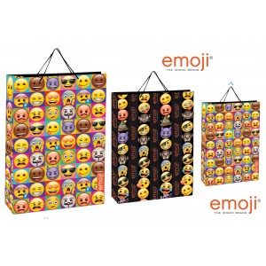 Bolsa papel regalo Emoji Emoticono  Mediana